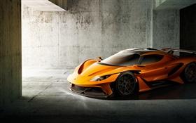 Apollo supercar front view HD wallpaper