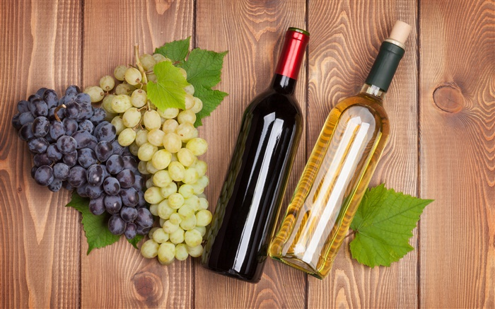 Drinks, wine, grapes, bottles Wallpapers Pictures Photos Images