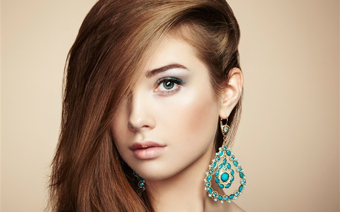 Fashion young girl, jewelry accessories Wallpapers Pictures Photos Images
