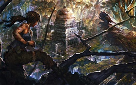 Game art painting, Lara Croft, Tomb Raider HD wallpaper