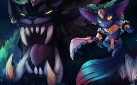 Gnar, League of Legends, PC games HD wallpaper
