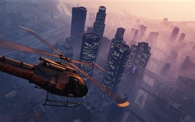 Grand Theft Auto V, GTA 5, PC game, helicopter HD wallpaper