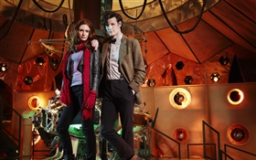 Matt Smith, Amy Pond, Doctor Who, TV Series HD wallpaper