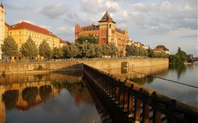 Prague, Czech Republic, Palace, river, house HD wallpaper