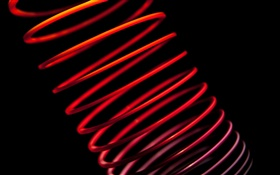 Tubular abstract, red, black background HD wallpaper