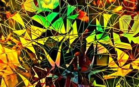 Abstract design, shapes, mirror broken, colors HD wallpaper