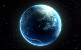 Beautiful planet, blue Earth HD wallpaper