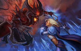 Diablo, Jaina Proudmoore, Heroes of the Storm HD wallpaper