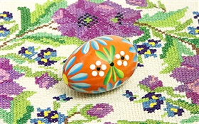 Easter egg, tablecloth HD wallpaper