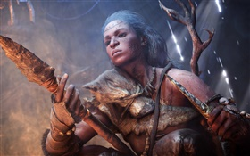 Far Cry: Primal, girl use spear HD wallpaper