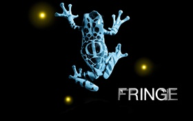 Fringe, frog, creative, black background HD wallpaper