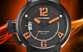 Jack Pierre, watch, orange and black HD wallpaper