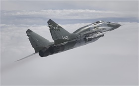 MiG-29SMT fighter, Russian air force HD wallpaper