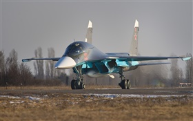 Su-34, tactical fighter-bomber, Russian HD wallpaper