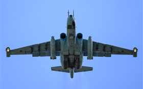 Sukhoi su-25, subsonic fighter flight, bottom view HD wallpaper