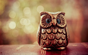 Toy, wood bird owl HD wallpaper