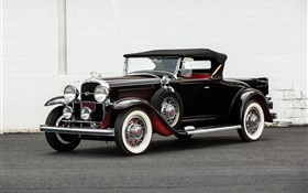 1931 Buick Series 90 Roadster, black color HD wallpaper