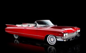1960 Cadillac Sixty-Two Convertible, red color