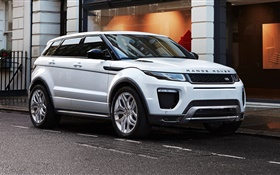 2015 Land Rover, Range Rover white SUV HD wallpaper