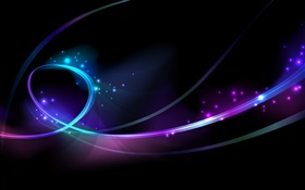 Abstract curves, blue and purple HD wallpaper