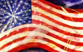 American flag, art paintings HD wallpaper