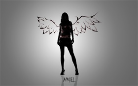 Angel girl, creative design HD wallpaper