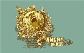 Angry Beast, creative vector design HD wallpaper