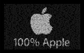 Apple logo, black background, creative design