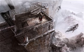 Assassin's Creed, jumping out castle HD wallpaper
