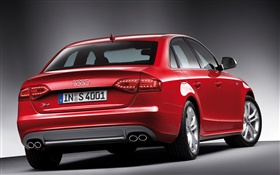 Audi S4 red car rear view