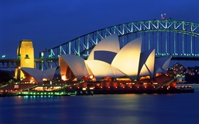 Australia, beautiful night in Sydney HD wallpaper