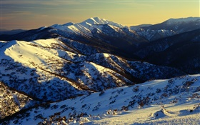Australia, mountains, snow, slope HD wallpaper