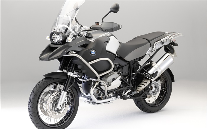 BMW R1200 GS black motorcycle front view Wallpapers Pictures Photos Images