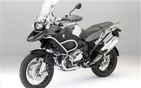 BMW R1200 GS black motorcycle front view HD wallpaper
