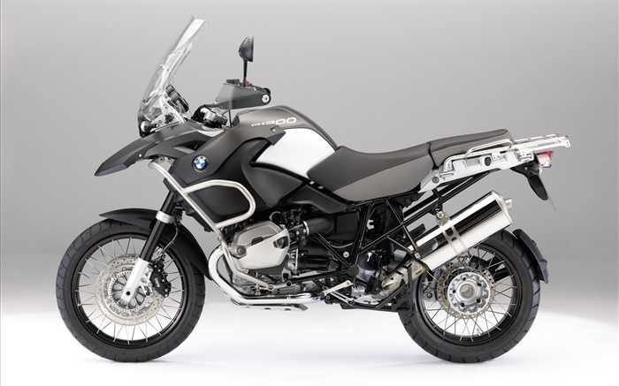 BMW R1200 GS black motorcycle side view Wallpapers Pictures Photos Images