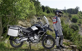 BMW R1200 GS motorcycle and drivers HD wallpaper