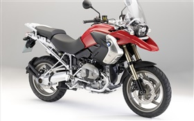 BMW R1200 GS motorcycle front left view HD wallpaper