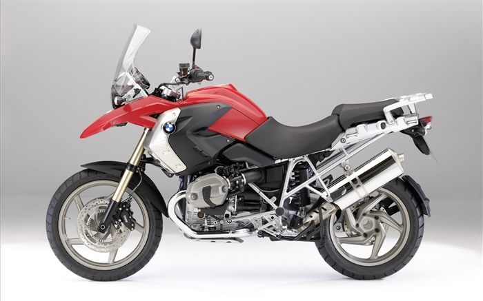 BMW R1200 GS motorcycle, red and black Wallpapers Pictures Photos Images