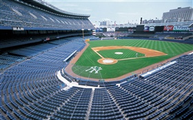 Baseball field, stadium, New York, USA HD wallpaper