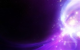Beautiful space, stars, purple light, creative design