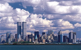 Before 911, Twin Towers, Manhattan, USA HD wallpaper
