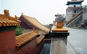 Beijing Forbidden City buildings, China HD wallpaper