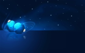 Blue Christmas balls, vector pictures HD wallpaper