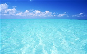Blue sea, sky, Maldives HD wallpaper