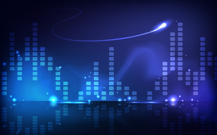 Blue style, music column, abstract pictures Wallpapers Pictures Photos Images