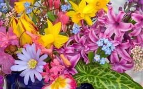 Bouquet flowers, many kinds, colorful HD wallpaper