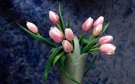 Bouquet, pink tulip flowers HD wallpaper