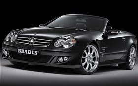 Brabus black convertible car