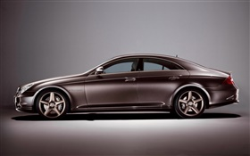 Brown color Mercedes-Benz car side view HD wallpaper