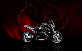 Buell motorcycle, red black background HD wallpaper